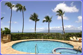 Enjoy the quiet pool just steps from the ocean when you reserve our Paki Maui vacation rental by owner condo located on the west side of Maui North of Kaanapali beach.