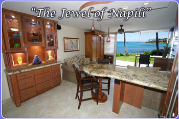 Napili Shores Maui rental home details and property rentals. Our Maui vacation rental is a jewel and may be rented directly from the Maui rental property owners.